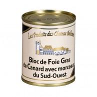 Bloc de foie gras de canard 30% morceaux sud-ouest 120g