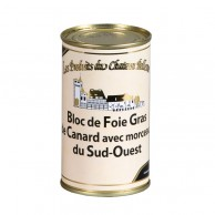 Bloc de foie gras de canard 30% morceaux sud-ouest 190g