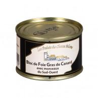 Bloc de foie gras de canard 30% morceaux sud-ouest 65g