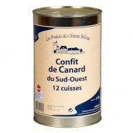 Confit de canard du Sud-Ouest 12 cuisses 4 kg