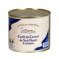 Confit de canard du Sud-Ouest 6 cuisses 2 kg