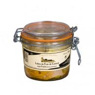 Lobes de foie de canard aux fruits (kiwi, pommes) 300 g