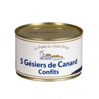 5 gésiers de canard confit 380 g