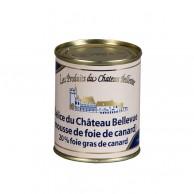 Délice du Château Bellevue - Mousse de foie de canard (20% foie gras de canard) 120g