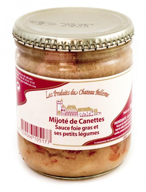 Mijoté de cannette sauce foie gras
